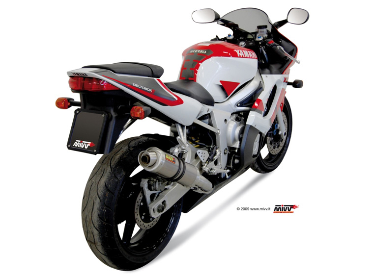 Yamaha yzf 600 r6 slip on mivv exhaust gp titanium for Best exhaust system for yamaha r6