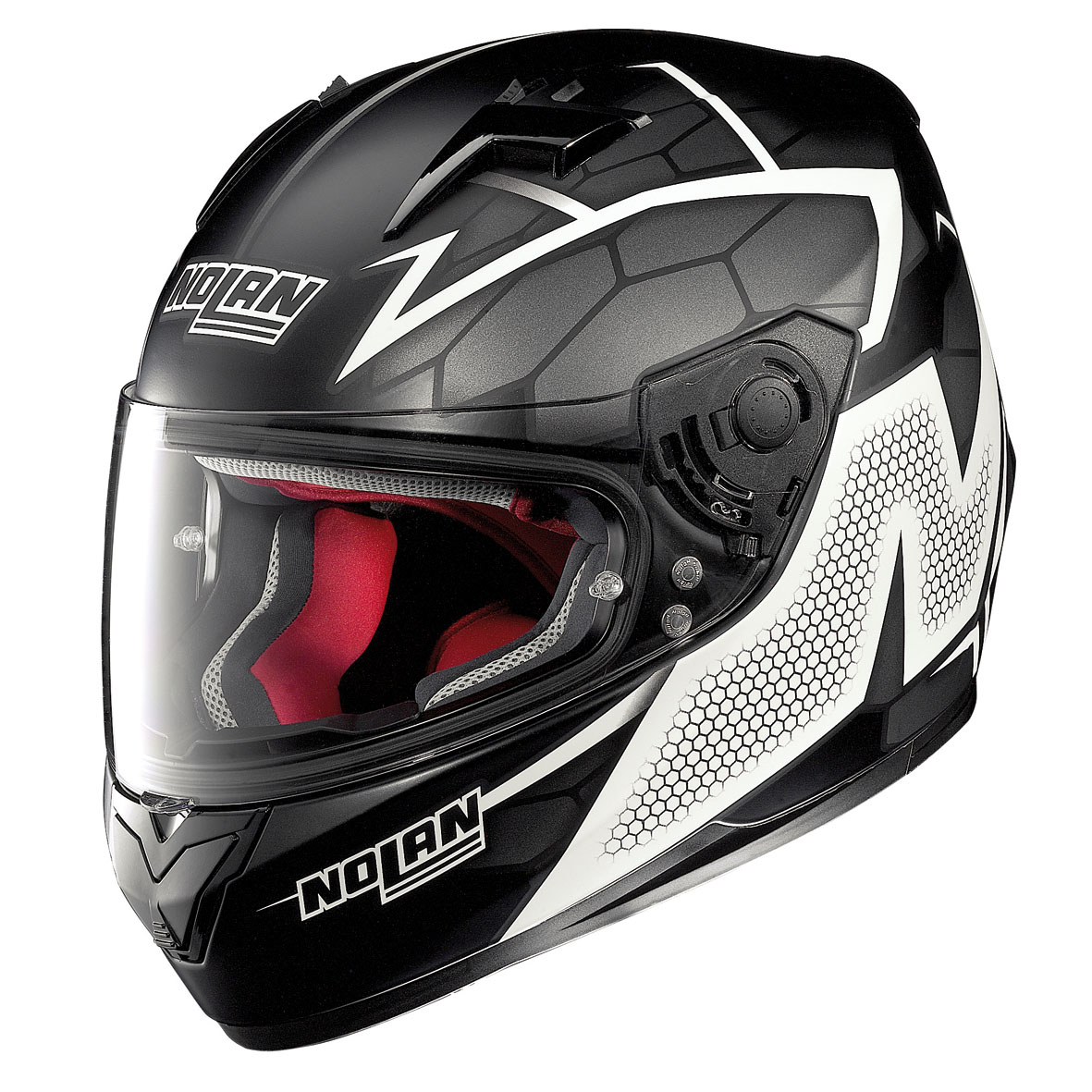 CASCO NOLAN N64 HEXAGON 88 FLAT BLACK