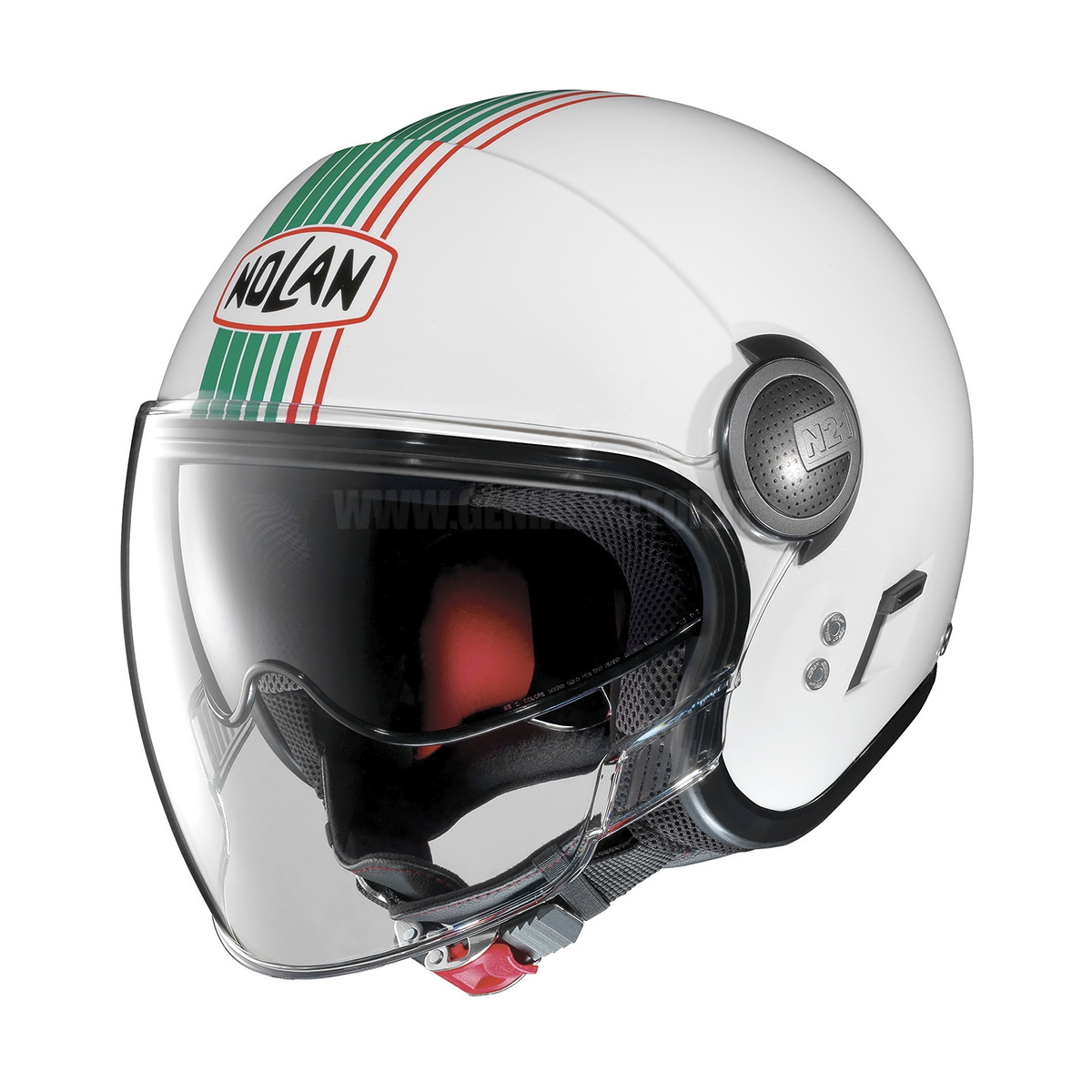 CASCO NOLAN N21 VISOR JOIE DE VI 043 METAL WHITE