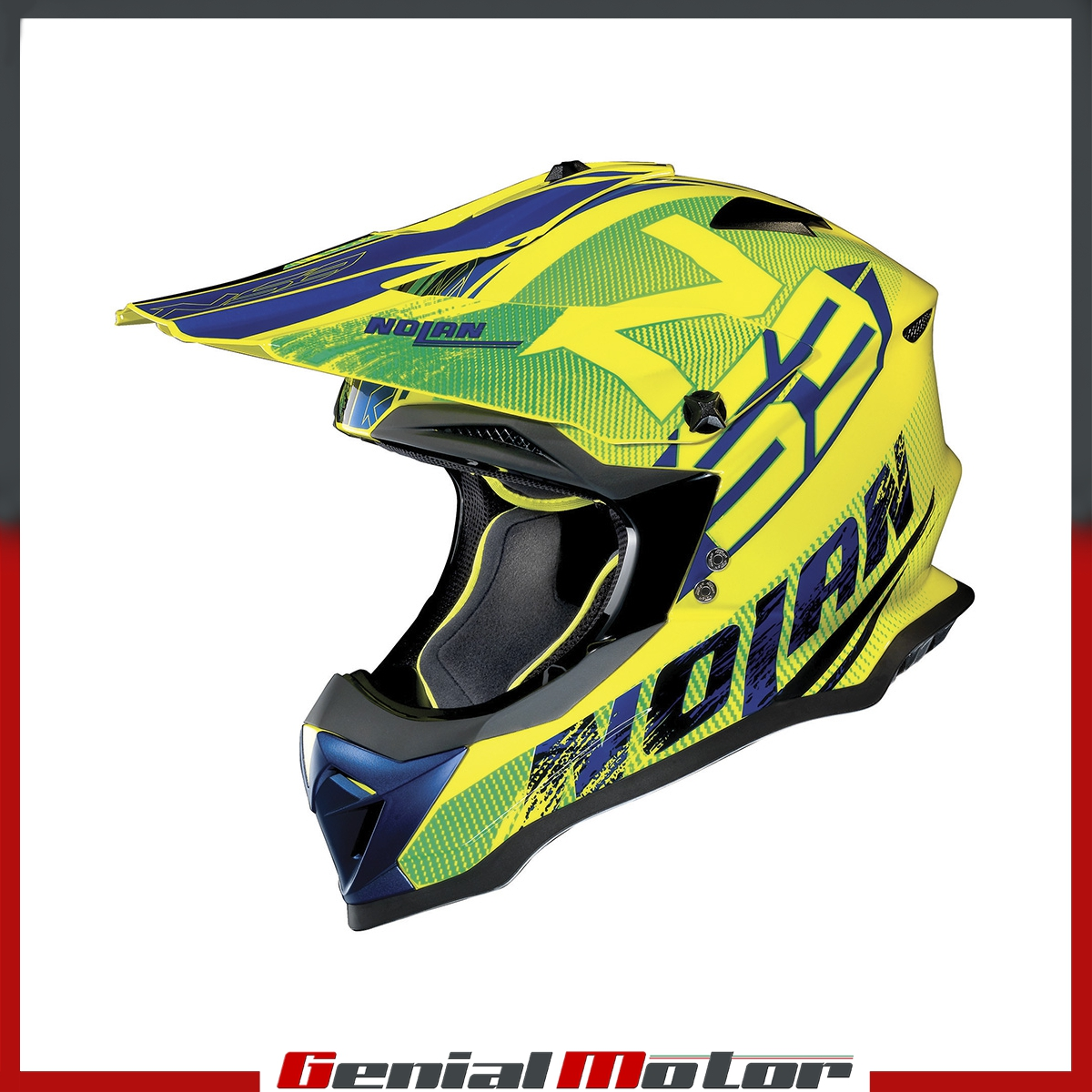 CASQUE NOLAN N53 WHOOP 049 TAILLE XL LED YELLOW