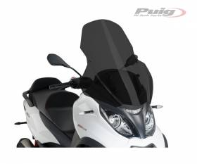 PUIG WINDSHIELD DARK SMOKED 1666F PIAGGIO MP3 HPE ABS ASR 500 2018 > 2020