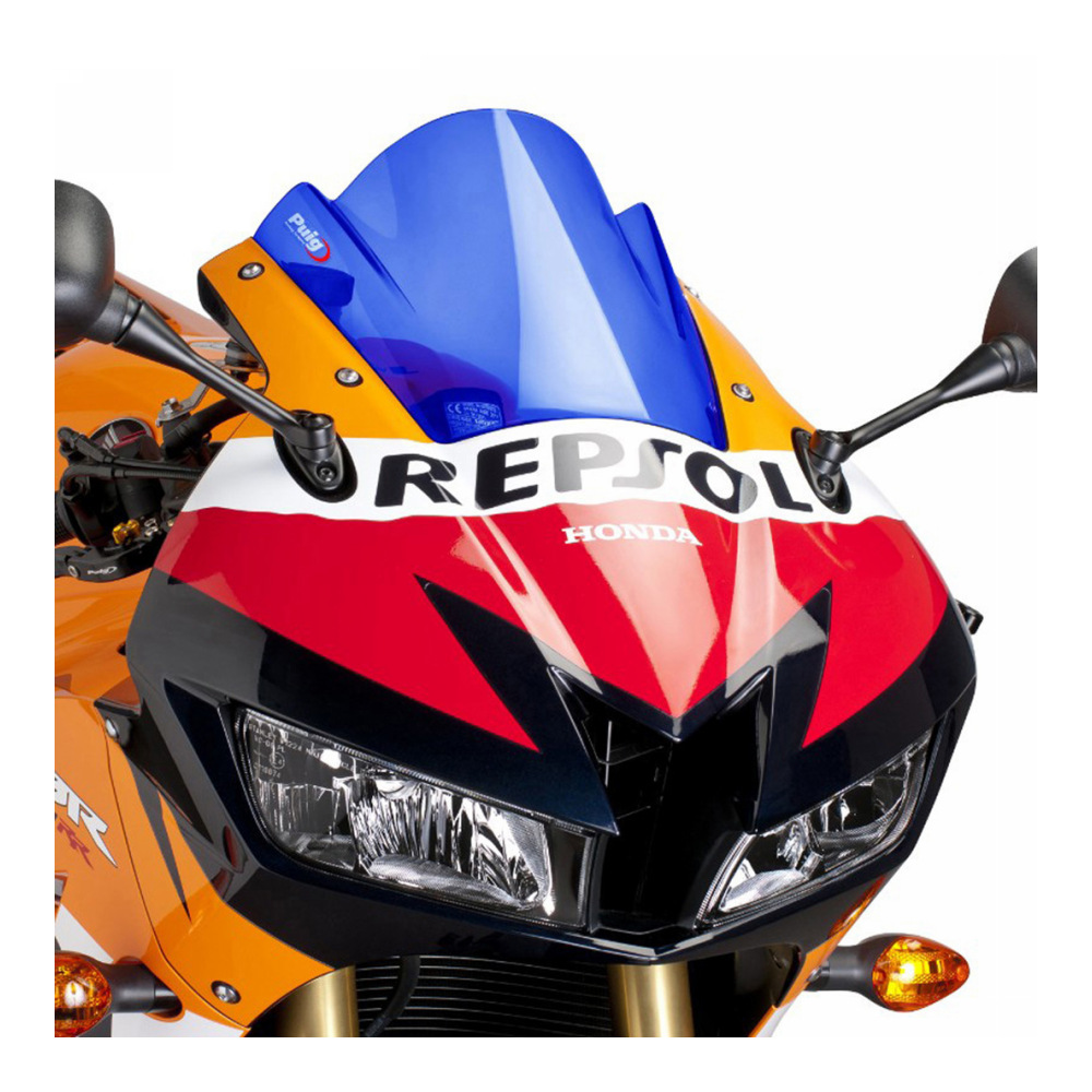 Blue Windscreen Fairing Bolts Screws CBR Logo For Honda CBR600RR