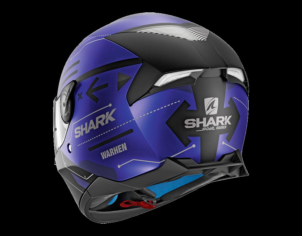 shark helmet skwal 2 warhen mat he4936kbk. Black Bedroom Furniture Sets. Home Design Ideas