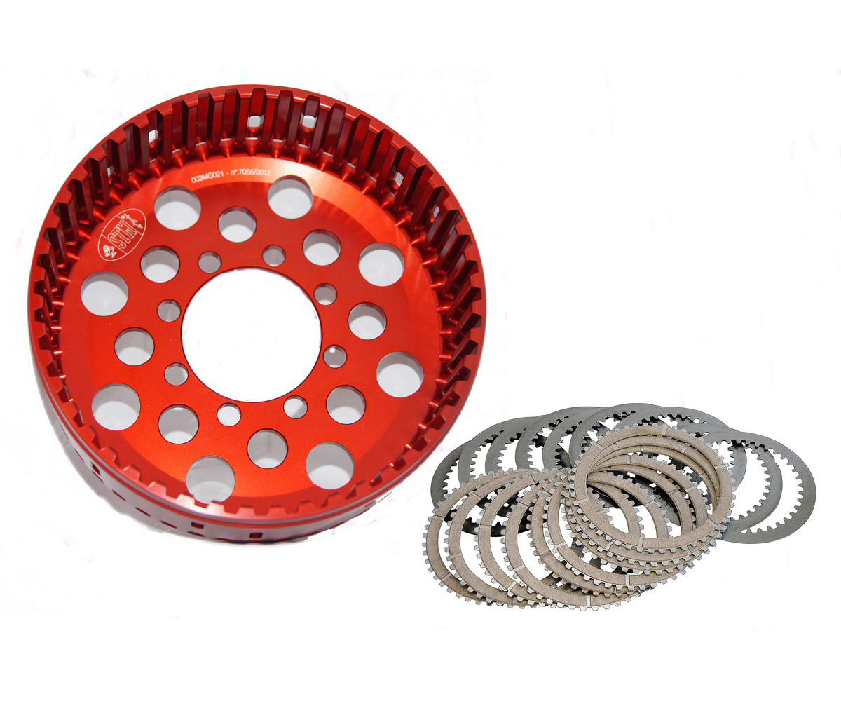 ADU-0016 Dry Basket + Clutch Plate Set Z48 For Oem Clutch Stm Ducati