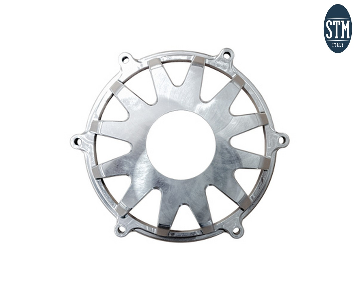 CDU-R500 Dry Clutch Cover Not Slotted Stm Color Red Ducati Panigale V4 2018 > 2021