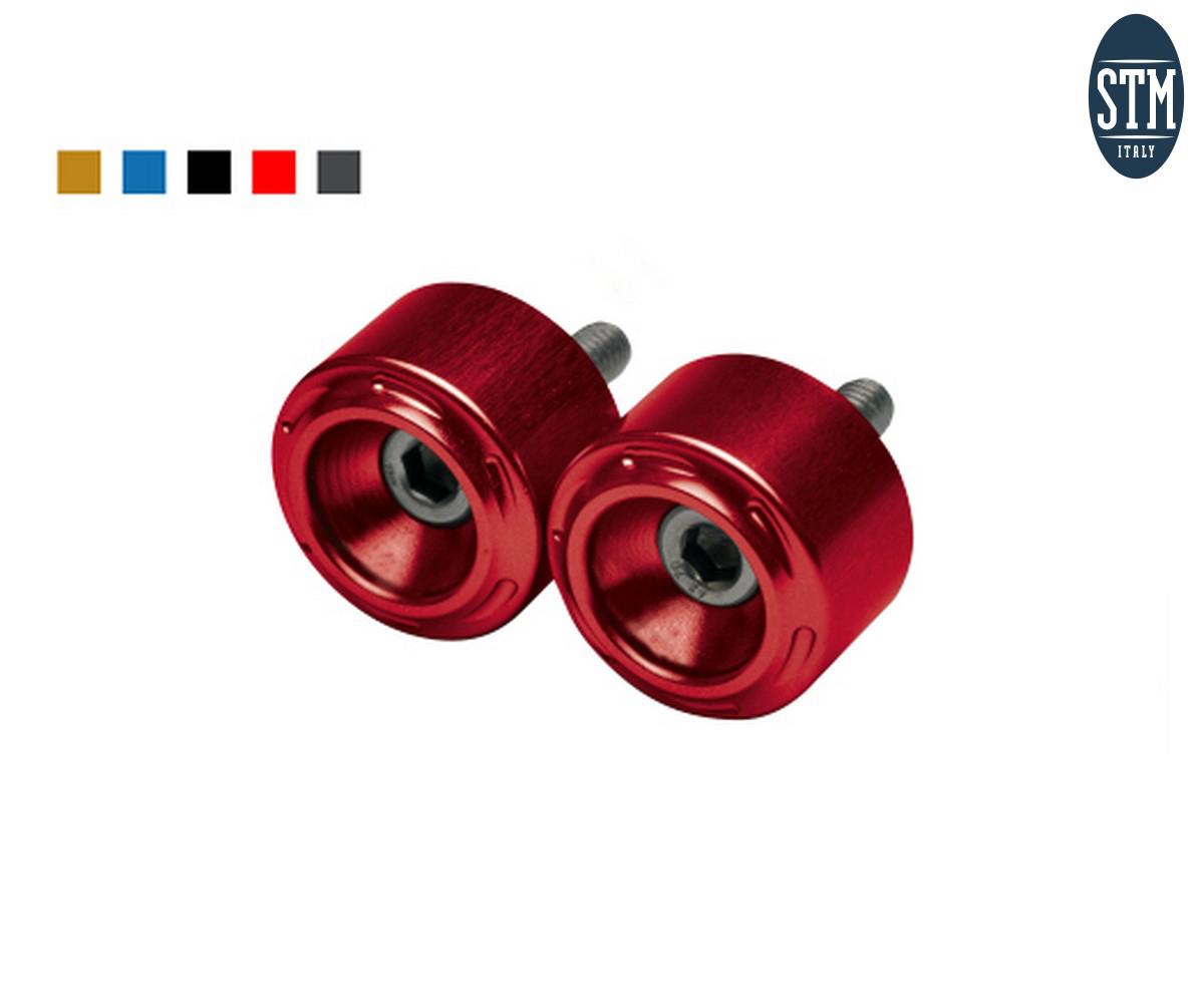 STR-R010 Bar End 2 Pcs M6X35 Small Stm Color Red Triumph 1050 2005 > 2017