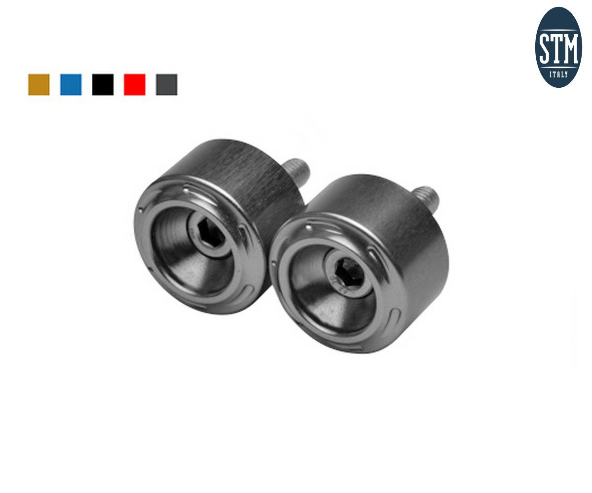 STR-S021 Bar End 2 Pcs M6X25 Big Stm Color Silver Triumph Daytona 675 2006 > 2016