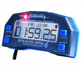 STARLANE STEALTH GPS-4 LITE GPS chronometer - Split times - Speed ??- Hour counter - Time and speed download