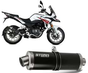 Exhaust Storm by Mivv Muffler Black Oval Steel for BENELLI TRK 251 2019 > 2020