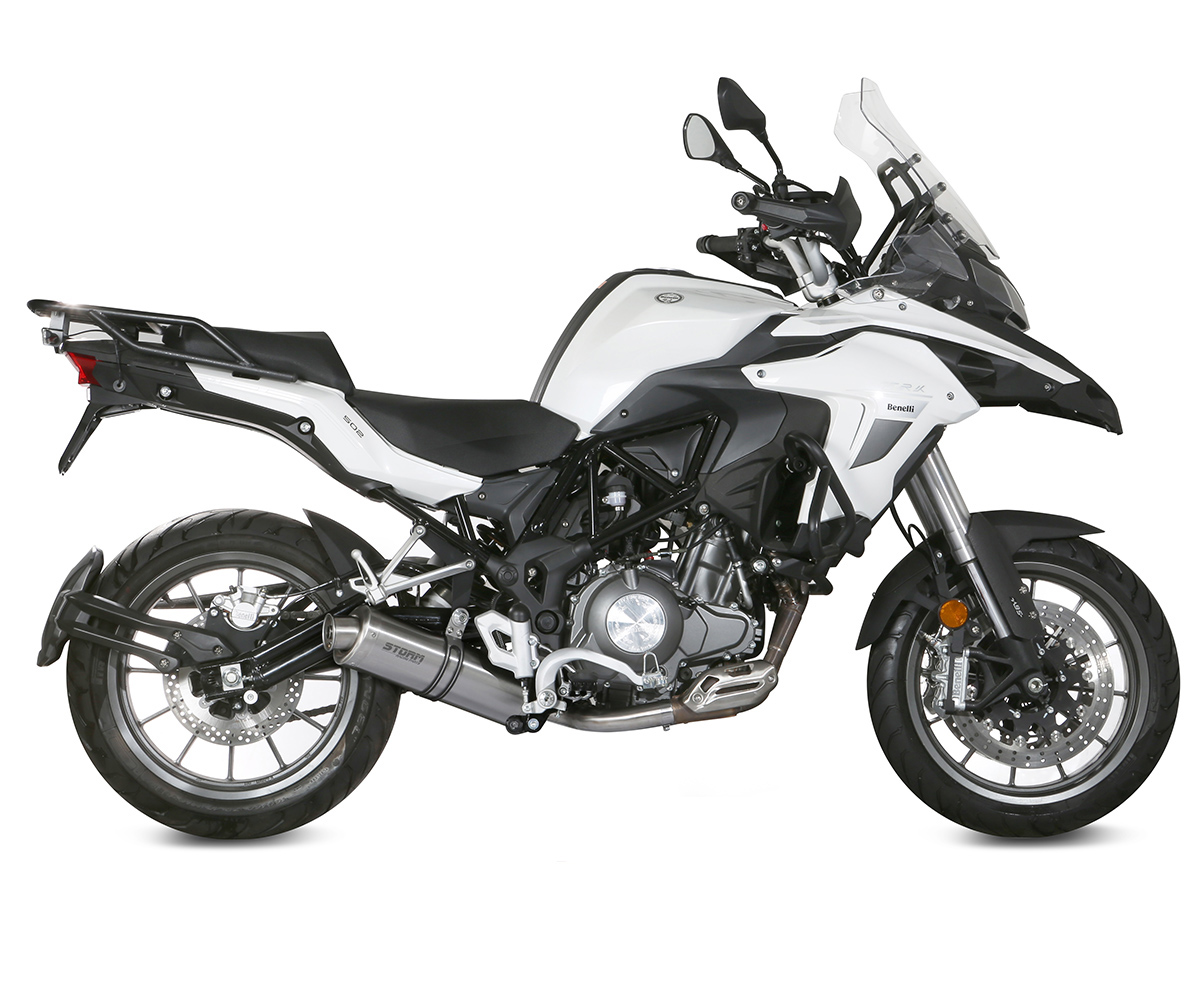 74.E.003.LX1B Escape Storm by Mivv Oval negro inoxidable para Benelli Trk 502 2017 17