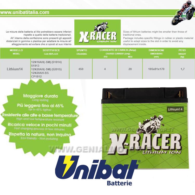Bmw K1600 Gtl Batterie X-racer Unibat