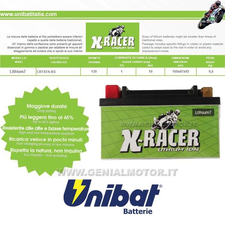 LITHIUM_7 Kymco Agility Batteria Litio X-racer Unibat