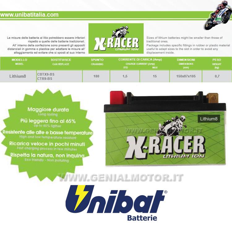 Cagiva Raptor (all Models) Batterie X-racer Unibat