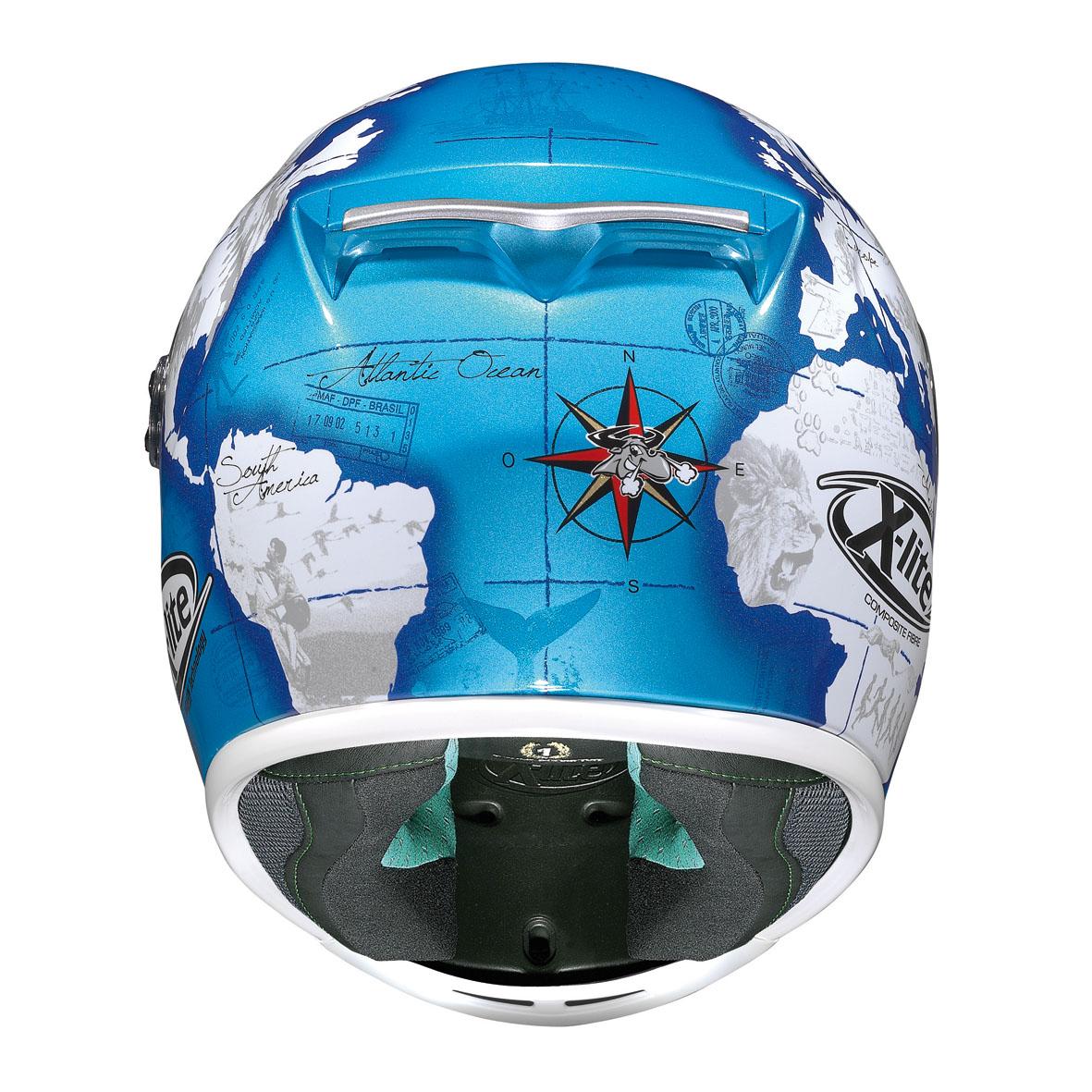 CASCO X LITE X-802RR REPLICA 27 C.CHECA - PEARL BLUE