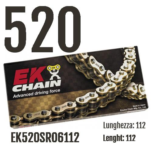 EK520SRO6112 Chaîne EK CHAINS Step 520 taille 112 pour BMW F / GS / DAKAR 2004 > 2007 450