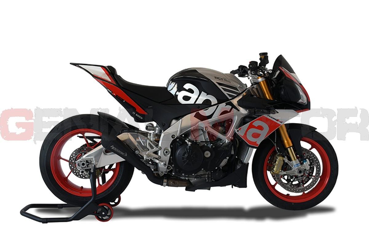 Xaphy1001b N Ab Exhaust Hp Corse Hydroform Black Aprilia Tuono V4 1100 2015 2016