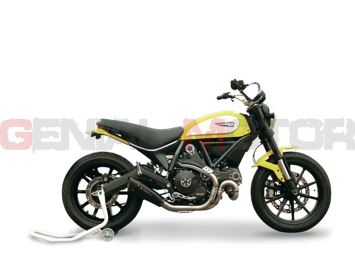 DUEVO2610B-AB Pot D'Echappement Hp Corse Evoxtreme 260 Noir Ducati Scrambler 800 2015 > 2020