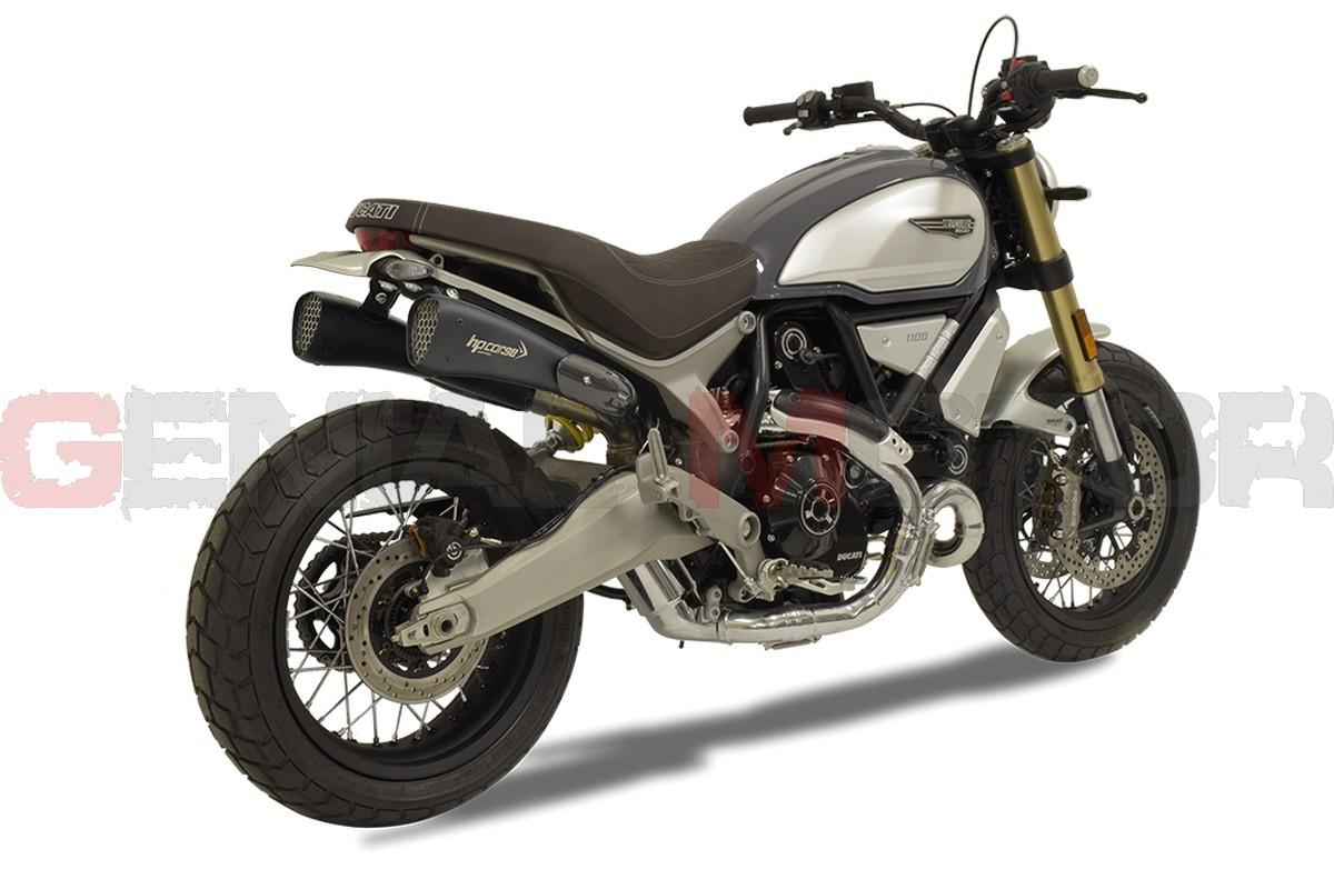 Xduhy20p11b Aab Exhaust Hp Corse Hydroform Srt Black Ducati Scrambler 1100 2018 2020