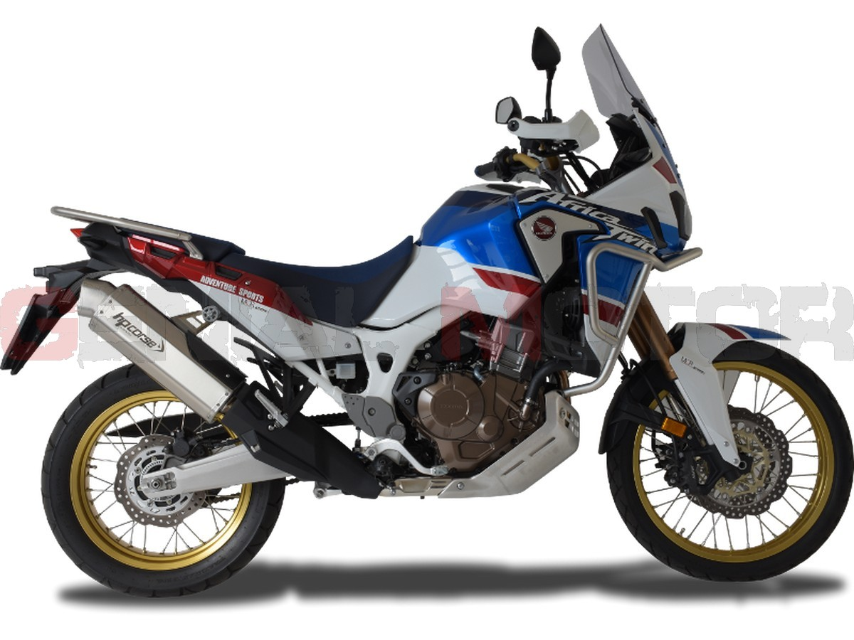 Ho4tr1022s Ab Exhaust Hp Corse 4track Satin Honda Crf 1000 L Africa Twin 2016 2020