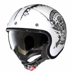 CASCO NOLAN N21 SPEED JUNKIES 51 SCRATCHED FLAT WHITE