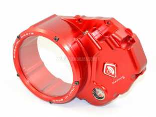 DUCABIKE CCDV03AA CLEAR CLUTCH COVER OIL BATH RED/RED