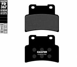 GALFER PASTIGLIE FRENO ANTERIORE APRILIA RS 125 2006 FD367