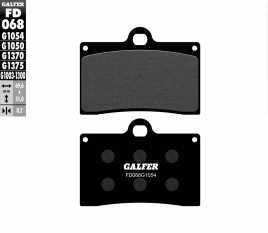 GALFER PASTIGLIE FRENO ANTERIORE APRILIA RS 250 1995 > 1997 FD068