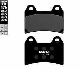GALFER PASTIGLIE FRENO ANTERIORE APRILIA RS 250 1998 FD176