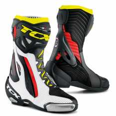 STIVALI TCX RACING 7651 RT RACE PRO AIR BIANCO ROSSO FLUO GIALLO