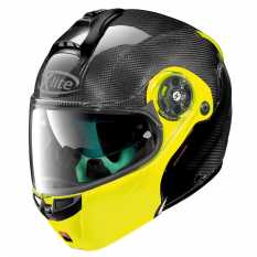 CASCO X LITE X-1004 ULTRA CARBON DYAD 4 FLUO YELLOW CHIN GUARD