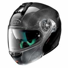 CASCO X LITE X-1004 ULTRA CARBON DYAD 3 SCRATCHED CHROME CHIN GUARD